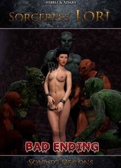Hibbli3D – Sorceress Lori - Sold To Demon - Bad Ending 2