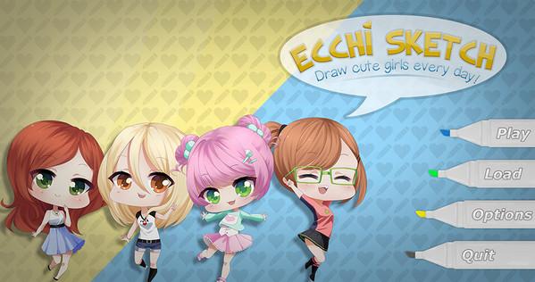 Ecchi Sketch: Draw Cute Girls Every Day!