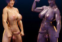 Squarepeg3D – Futa Effect – Heilla vs Melanie